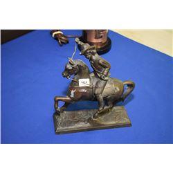 Small spelter mounted rider