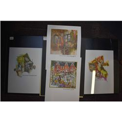 """Four prints including """"This is our Toronto"""" series, Yorkville, Antique Shop opposite Saint Lawrence"""
