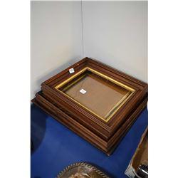 Four vintage wooden picture frames