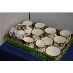 """Selection of Royal Albert bone china """"Celebration"""" including six coffee cups, four tea cups and sauc"""