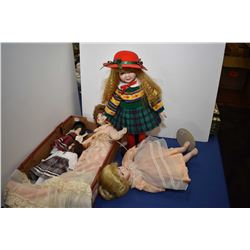 Selection of collectors dolls including Royal Doulton Louie Nichole etc., five dolls in total