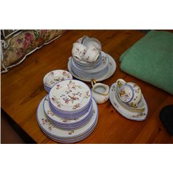 Selection of French made Limoges china tableware including dinner, lunch and bread plates, nappies,
