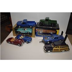 Selection of die cast cars and trucks including Motor Max, Vurango etc.