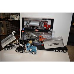 Selection of semi trucks including some new in box