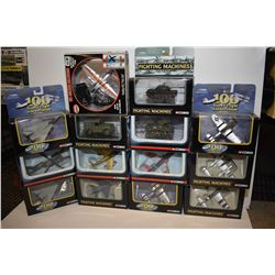 Twelve new in box airplanes and tanks made by Corgi