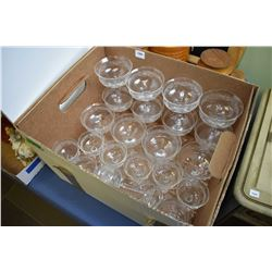 Selection of etched crystal stemware