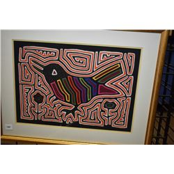 Framed art textile