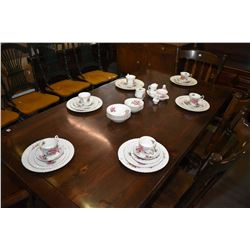 "Royal Albert Prairie Rose china Selection of Royal Albert ""Prairie Rose"" bone china with six each of"