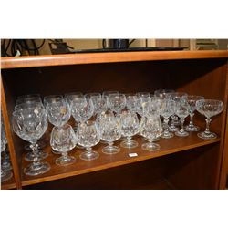 German made stemware Large selection of German made stemware, approximately 36 pieces
