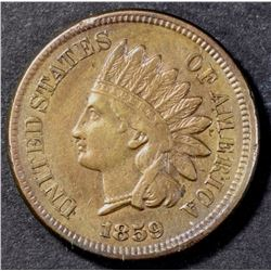 1859 INDIAN HEAD CENT  AU+
