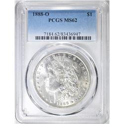 1888-O MORGAN DOLLAR, PCGS MS-62