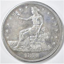1874-CC TRADE DOLLAR   BU
