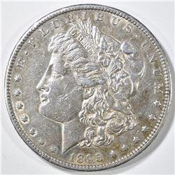 1895-S MORGAN DOLLAR  AU+