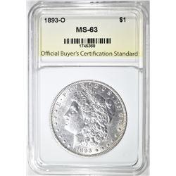 1893-O MORGAN DOLLAR CH BU
