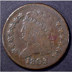 1809 HALF CENT FINE