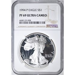1994 P EAGLE S $1 NGC PF 69 ULTRA