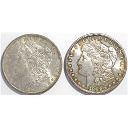 1881-S & 1885-O MORGAN DOLLARS  CH BU