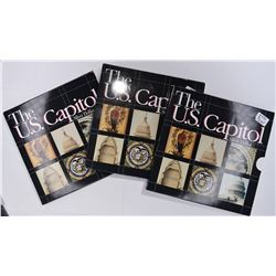 3-1994 U.S. CAPITOL SETS PROOF SILVER DOLLARS/BOOK