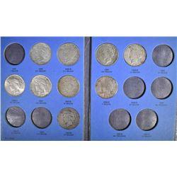 PARTIAL PEACE DOLLAR, SET: 12 COINS HAS AU 1934