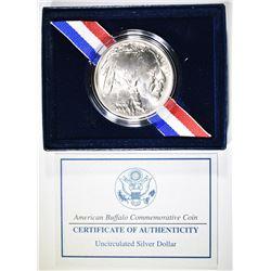 2001 AMERICAN BUFFALO COMMEM UNCIRC SILVER DOLLAR