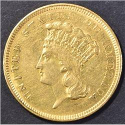 1854-O $3.00 GOLD XF/AU