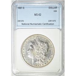 1887-S MORGAN DOLLAR  NNC BU+