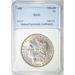 1888 MORGAN DOLLAR  NNC CH BU