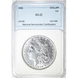 1896 MORGAN DOLLAR  NNC BU+