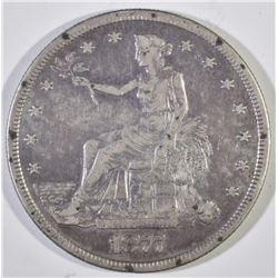 1877-S TRADE DOLLAR, XF