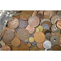 APPROXIMATELY 10.5 LBS FOREIGN COINS