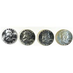 (4) GEM PROOF FRANKLINS 1960, 2-61, 63