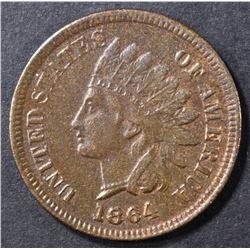 1864 L INDIAN CENT  XF/AU SOME POROSITY