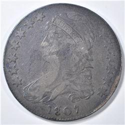 1807 BEARDED GODDESS BUST HALF DOLLAR  FINE
