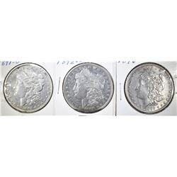 1891-O, 92-O & 96 CIRC MORGAN DOLLARS XF OR BETTER