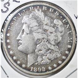 1892-S MORGAN DOLLAR, VF KEY DATE