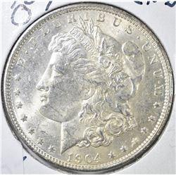 1904-O MORGAN DOLLAR, CH BU