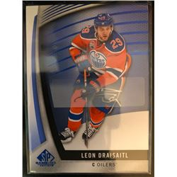 2017-18 SP Game Used Blue Autographs Leon Draisaitl
