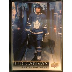 2018-19 Upper Deck Canvas Auston Matthews Card #C75