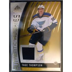 2017-18 SP Rookies Gold Jersey Tage Thompson #97