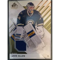 2016-17 SP Game Used Gold Materials Jake Allen #41