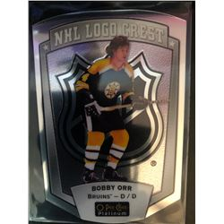 2016-17 O-Pee-Chee NHL Logo Crest Bobby Orr Platinum