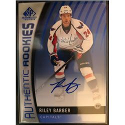 2017-18 SP Game Used Blue Rookie Auto Riley Barber