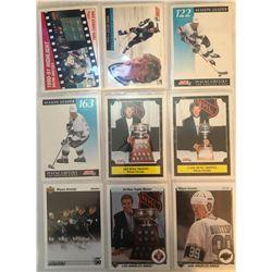 Wayne Gretzky 9 Card Lot Season Leader, Lady Byng,