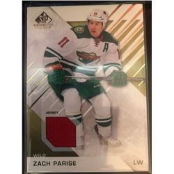 2016-17 SP Game Used Gold Materials Zack Parise #75
