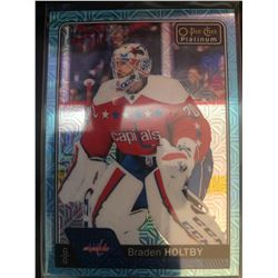 2016-17 O-Pee-Chee Ice Blue Traxx Braden Holtby #30
