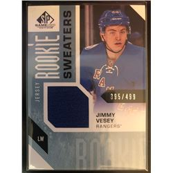 2016-17 SP Game Used Rookie Sweaters Jimmy Vesey