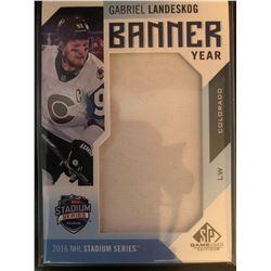 2016-17 Sp Game Used Banner Year Gabriel Landeskog