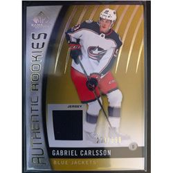 2017-18 SP Game Used Rookies Jersey Gabriel Carlsson