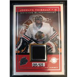 2003-04 Pacific Game Worn Jersey Jocelyn Thibault #4