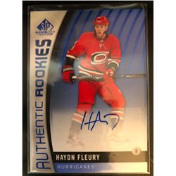2017-18 SP Game Used Blue Rookie Auto Hayden Fleury